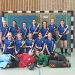 weibliche Jugend B mit Mädchen A Mannschaftsbild Hallensaison 2015/16