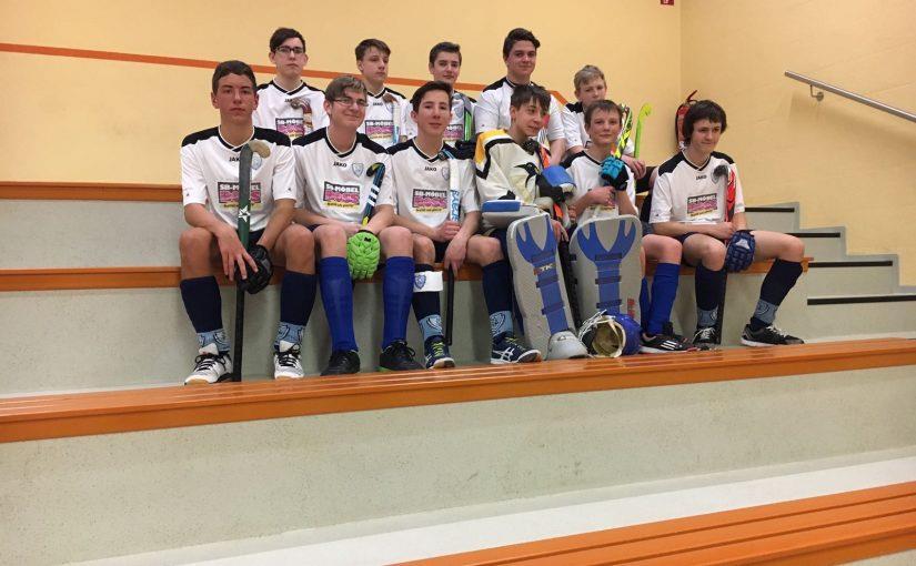 männliche Jugend B Mannschaftsbild Hallensaison 2016/17