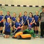 weibliche Jugend B Mannschaftsbild Hallensaison 2015/16
